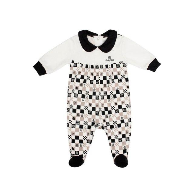 Комбинезон Lucky Child без начёса для девочек, арт. 29-13D (Шахматы) [сделано в России, доставка от 2-х дней]