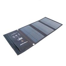 KERNUAP 15W 21W 28W 휴대용 태양 열 충전기 휴대 전화 캠핑 여행 Foldable Sunpower 패널 듀얼 USB 포트로 충전