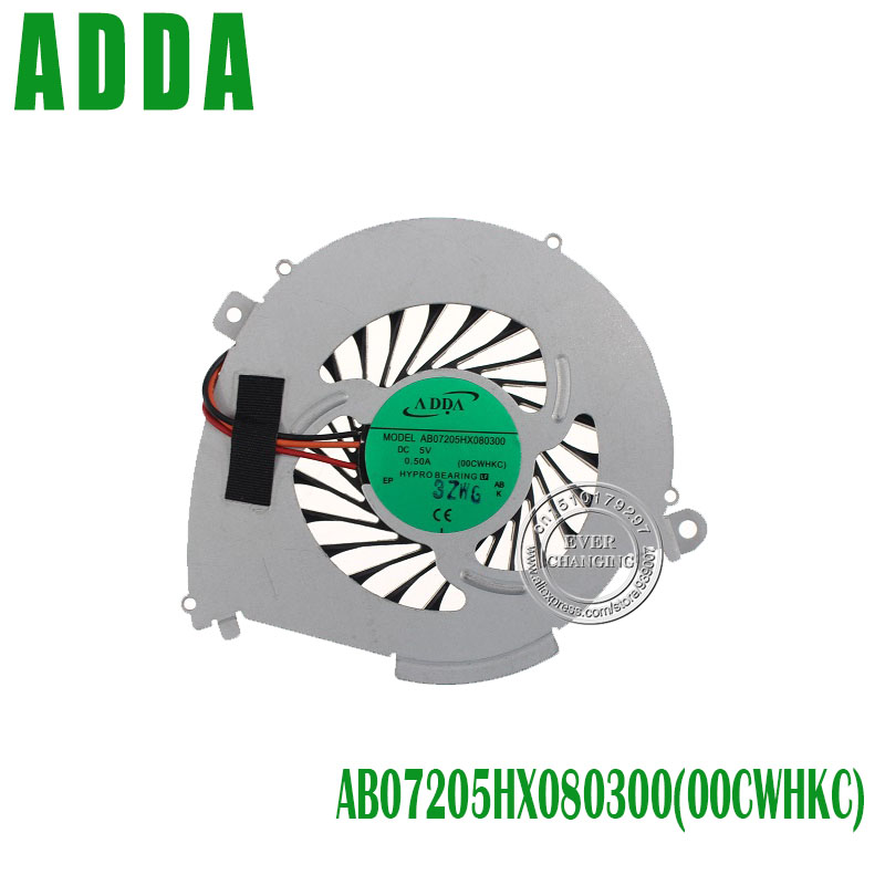 New Laptop CPU Cooling fan for SONY SVF14 AB07205HX080300 00CWHKC 3Pin