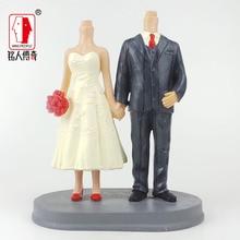 Wedding Gift Wedding Cake Topper Personalized Custom real doll custom clay dolls fixed resin body SR160