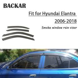Backar 4 sztuk Auto szyby samochodowe deszcz wiatr dla Hyundai Elantra 2006 2018 osłona przeciwsłoneczna deflektor Visor wykończenia akcesoria w każdych warunkach pogodowych|Markizy i zadaszenia|   -
