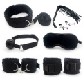 Sex Bondage Kit Set 7 Pcs Sexy Product Set Adult Games Toys Set Hand Cuffs Footcuff Whip  Blindfold Couples Erotic Toys