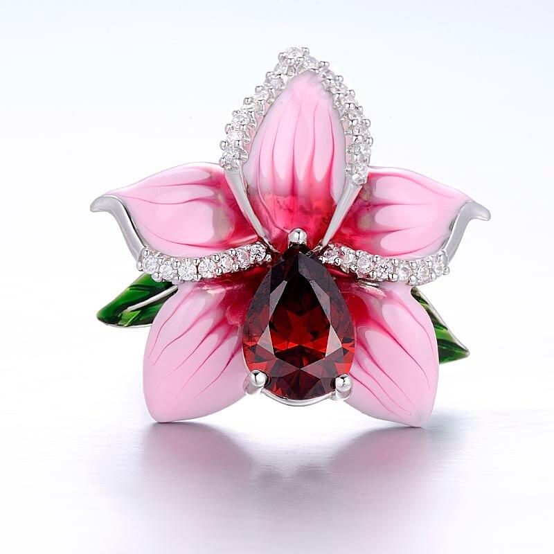 Aliexpress buy santuzza silver flower ring for women 925 aliexpress buy santuzza silver flower ring for women 925 sterling silver fashion rings for women cubic zirconia ringen party jewelry enamel from mightylinksfo