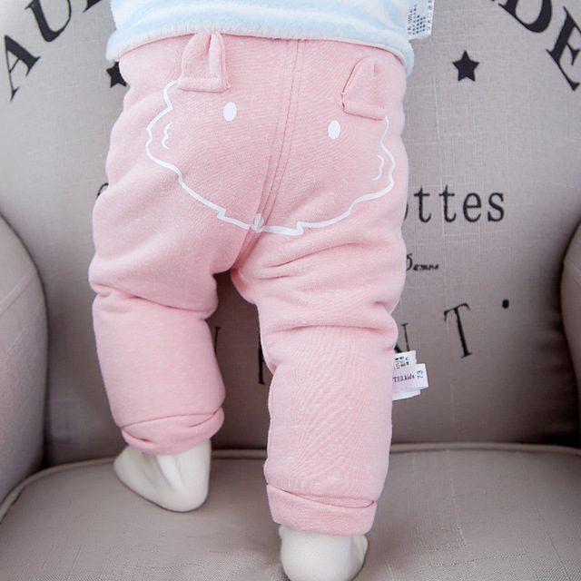 b710758ffed74 Children's Clothing Pants Baby boy's girl's Thick Fleece Long trousers PP Pants  Infant Winter Warm Pants A049