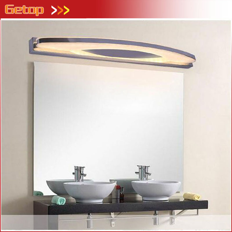 Modern Stainless Steel Acryl LED Mirror Wall Lamp Waterproof Anti-fog Frosted Bathroom Cabinet Light Bathroom Make-up Lamp modern creative acryl aluminum led mirror lamp for bathroom living room waterproof anti fog 40cm 12w mirror light 2130