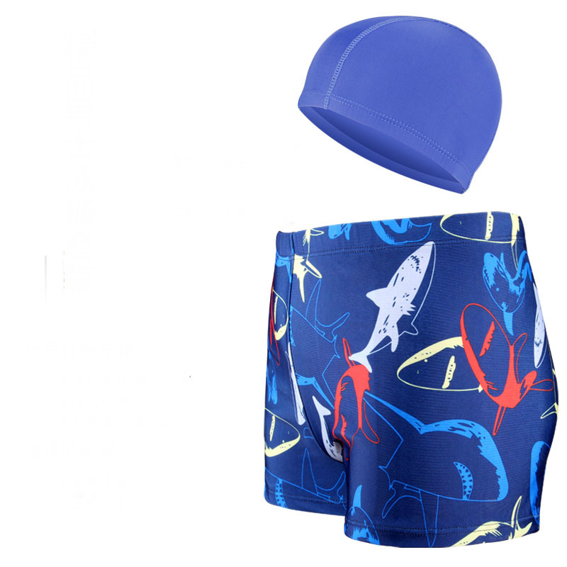 Men Swimwear Mens Trunk Swimming Plus Size Swimsuit Bathing Trunks Surf Shorts 5 Pieces Sets Caps Goggles Bags Nose Ear Plugs