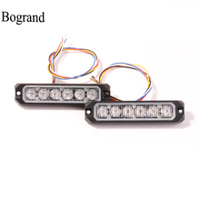 Led Car Warning Strobe Lights Ultra-thin Emergency Ambulance Light syncro Flashing Police Lamp High Power Blink Side