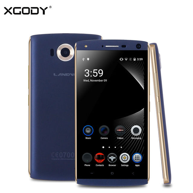 XGODY Landvo V11 5 Inch 3G Smartphone MTK6580 Quad Core 1GB RAM 16GB ROM Unlocked Phone 8.0MP Camera with WiFi GPS 2SIM Mobile