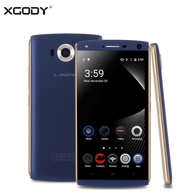 XGODY Landvo V11 5 Inch 3G Smartphone MTK6580 Quad Core 1GB RAM 16GB ROM Unlocked Phone 8.0MP Camera with WiFi GPS 2SIM Mobile