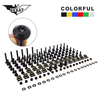 Colorful Motorcycle Fairing Spring Screws Bolts Nuts Kit Fastener Clips For r nine t virago 535 motorcycle signal yamaha xvs