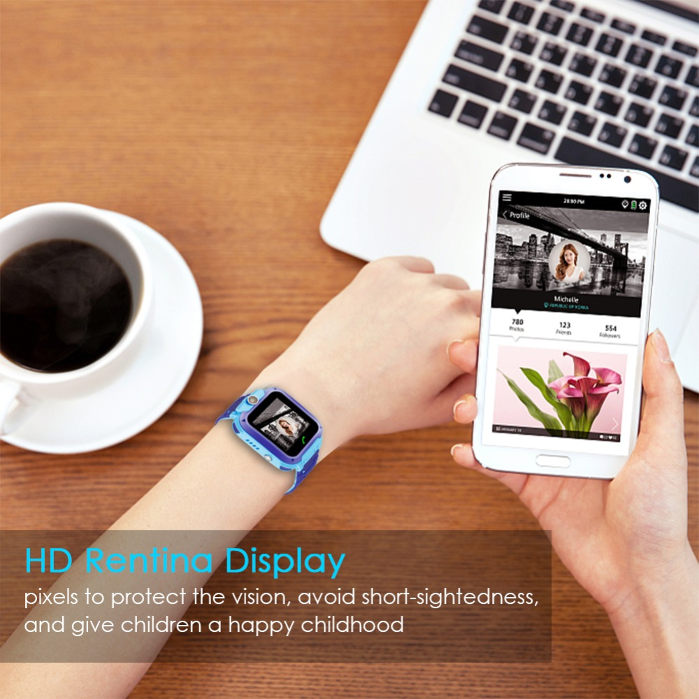 High Quality Newest Waterproof Tracker Smart Kids Child Watch Anti-lost SOS Call Smart Watch For iOS Android 25