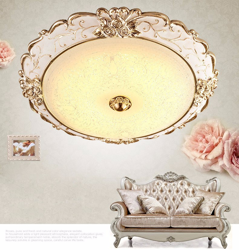 European style living room resin LED ceiling lamps children bedroom glass ceiling light fixture circular balcony porch lamp led ceiling lamp european style lights iron glass ball lighting bedroom living room light fixture