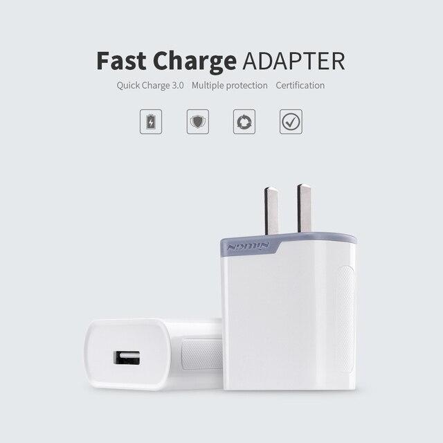 f92f0147ef0 NILLKIN QC 3,0 cargador rápido adaptador para iPhone iPad 3A carga rápida  teléfono móvil