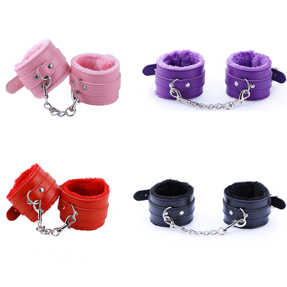 Erotic Toys SM Game Adult Bondage Restraint Detachable Adjustable PU Leather Handcuffs Bundled Sex Toys For Couple