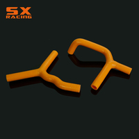 Motorcycle Orange Water Pipe Silicone Radiator Coolant Hose For KTM SX85 2003 2010 SX105 2007 2008 2009 2010 2011 Dirt Bike