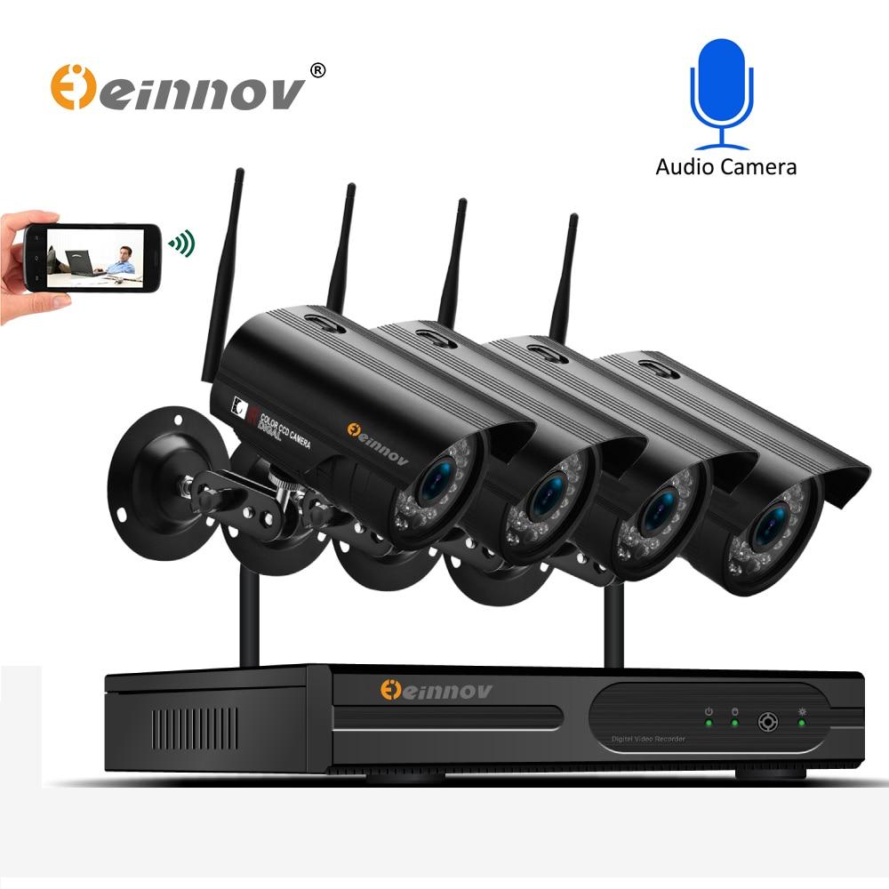 Einnov 1080 P 2MP IP Della Macchina Fotografica di Registrazione Audio Senza Fili di Sicurezza Domestica Sistema A CIRCUITO CHIUSO Con NVR wifi Video di Sorveglianza Kit Set wi-fi IR P2P