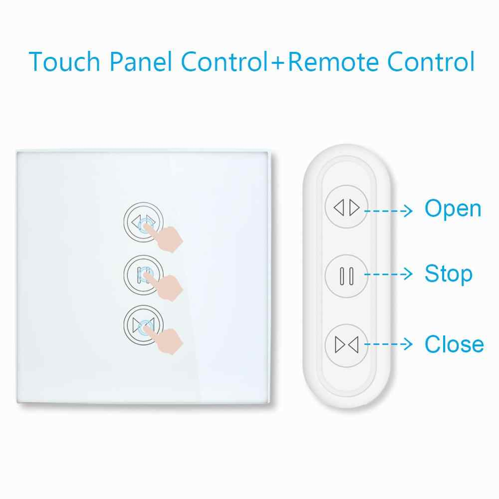 Tuya Kehidupan Cerdas RF Wifi Smart Curtain Tirai Roller Shutter Switch Google Home Alexa Echo Kontrol Suara Smart Home Aplikasi timer