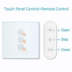 Tuya vida inteligente rf wi fi cortinas cortina inteligente interruptor do obturador do rolo google casa alexa eco controle de voz casa inteligente app temporizador