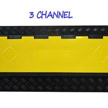3-канальная резина Электрические провода Чехол протектор 3 Слот кабельный пандус протектора