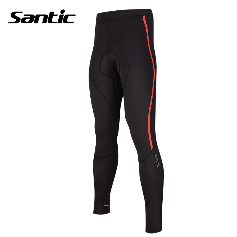 Santic Cycling Pants Men Winter Thermal Fleece Windproof Long Bike Pants 4D Shockproof Padded Bicycle Pants Pantalon Ciclismo santic men winter cycling pants thermal fleece windproof mtb road bike pants 4d padded bicycle long pants cycling clothes