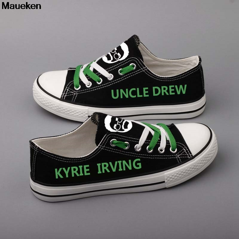 save off 8fedf 21522 2019 Diy Uncle Drew Kyrie Irving Canvas Shoes Customized ...