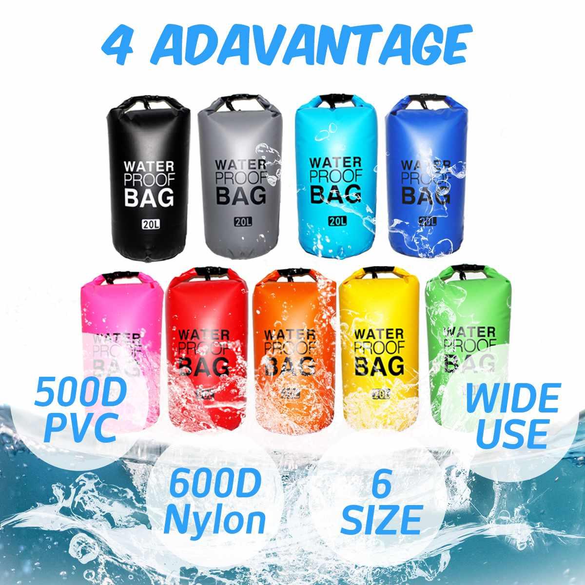 Gotecool PVC Shoulder Ultralight Swimming Bag Dry 9 Colors Outdoor Nylon Kayaking Storage Drifting Waterproof Rafting Bag 2L