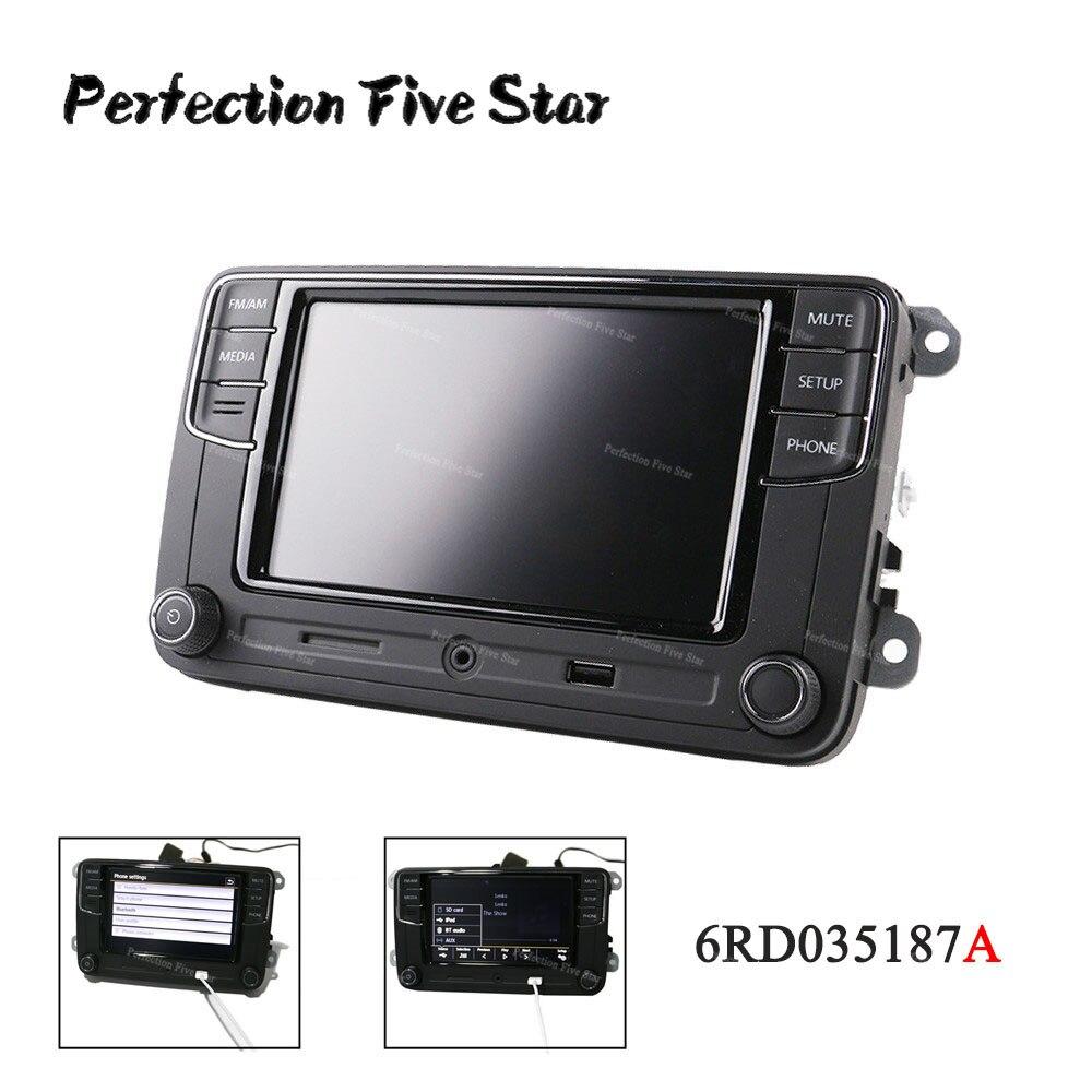 US $180 0 |6RD035187A 6 5' RCD330 Plus MIB Radio USB AUX Bluetooth RCD510  RCN210 For VW Polo Golf 5 6 Passat B6 B7 CC Tiguan Jetta MK5 MK6-in Fascias
