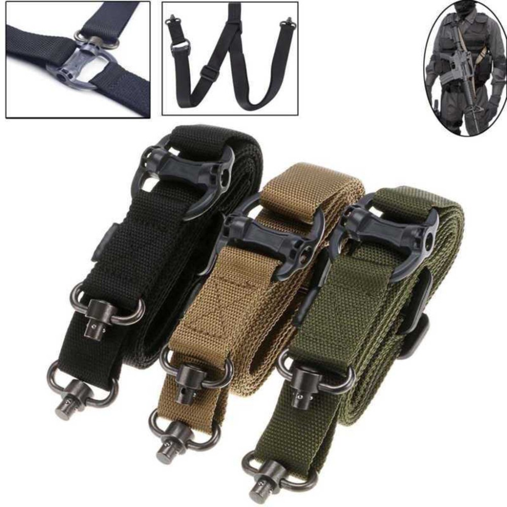 Rifle 2 Point Padded Sling Shoulder Strap with Mil-Spec QD Quick Detach Swivels