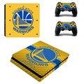 НБА Голден Стэйт PS4 Slim Наклейку Кожи Наклейка Для Sony PS4 PlayStation 4 Slim Console и 2 Контроллера Наклейки