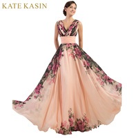 3 Designs Grace Karin Stock One Shoulder Flower Pattern Floral Print Chiffon Evening Gown Dress Party