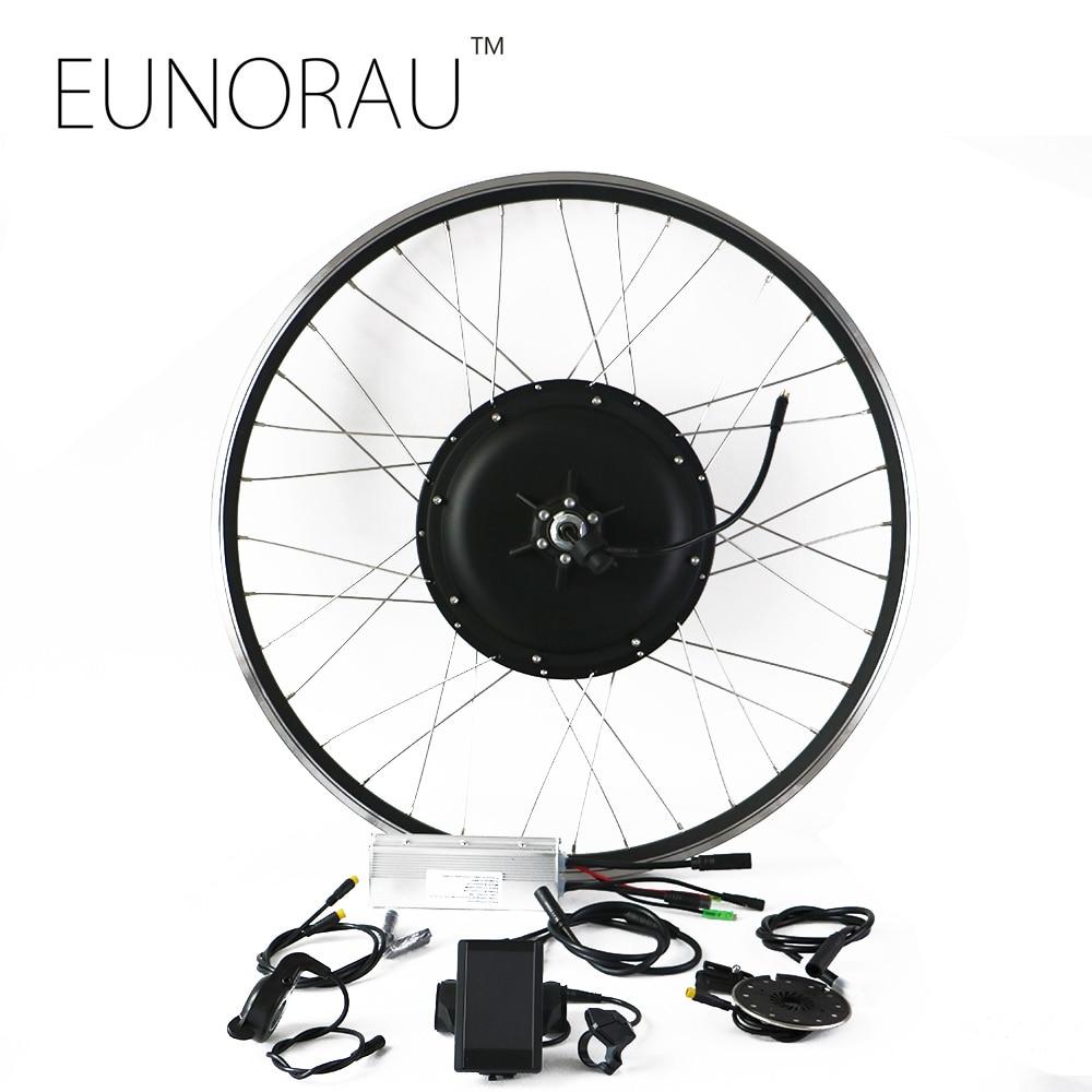 Бесплатная доставка задний мотор 48V1000W электрический велосипед набор преобразования с 26/27.5/28 дюймов черный обод
