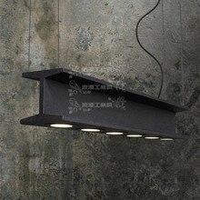 Американский ретро промышленного стиле лофт кованого железа люстра ресторан Кафе Бар тяжелых металлов люстра творческая студия