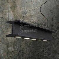 American retro industrial loft style wrought iron chandelier restaurant Cafe Bar heavy metal chandelier creative studio