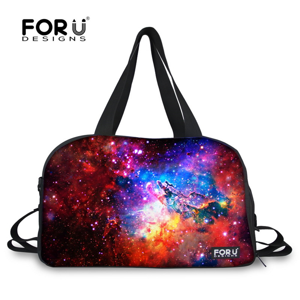 3aacbd6c9dbe FORUDESIGNS Sky Galaxy Waterproof Canvas Sports Bag Ultralight Foldable Outdoor  Gym Bag Yoga Travel Duffle Shoulder Tote Bags