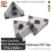 EDGEV Boron Nitride CBN Insert TNGA160404 TNMG160408 Or TNGA431 TNMG432 Blade For Cutting Hardened Steel And