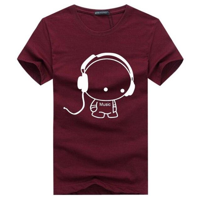 7b630cb869654 Мужские футболки мода 2019 мужской музыкальный мультфильм смешные футболки  с круглым вырезом короткий рукав хлопок футболка