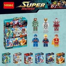 Decool 0244-0249 Marvel's Captain America Civil War Hyperion Iron Man Bricks Building Block Minifigure Toys Best Toys