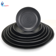 New Japanese Style Round Shaped Salad Sushi Dish Snack Plate Pastry Fruit Tray Household Kitchen Tableware Utensils