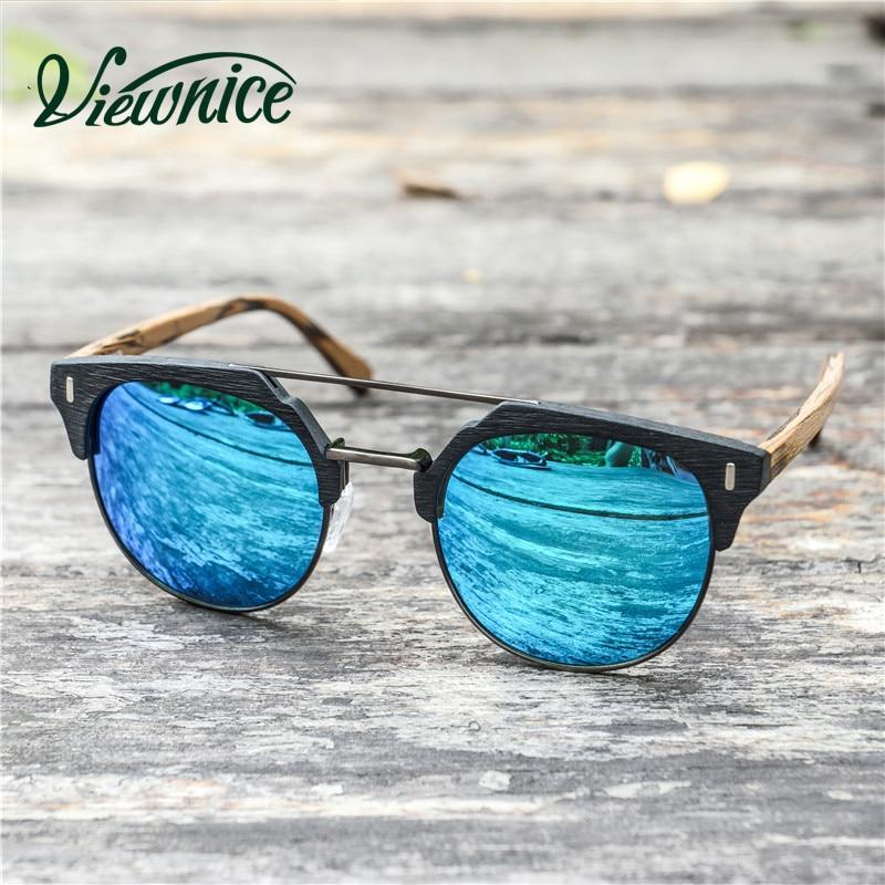 Viewnice 2018 Trä Solglasögon Man Retro Gafas de sol Designer - Kläder tillbehör - Foto 4