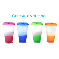 Creative Breakfast Cup Oatmeal Cup Cereal To Go PP Material Snack Cup With Lid Foldable Spoon Food Container Keep Milk Cold 1