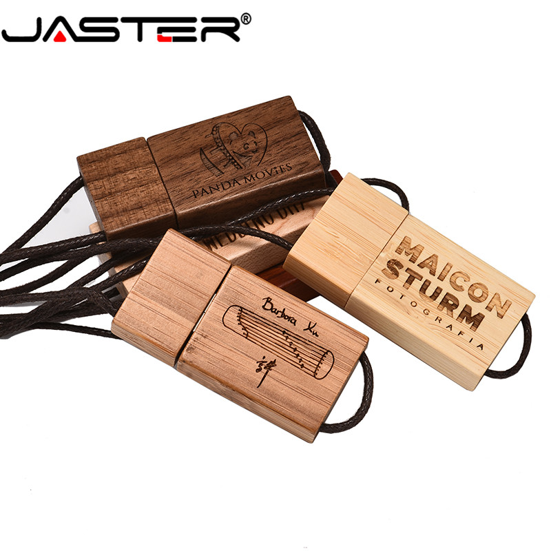 JASTER Hot Sale (free Custom Logo) Wear Cord USB 2.0 4GB 8GB 16GB 32GB 64GB USB Flash Drive