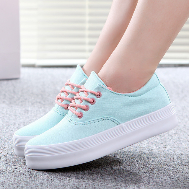 Women flat shoes canvas shoes 2016 new fashion ladies shoes woman scarpe donna creepers shoes