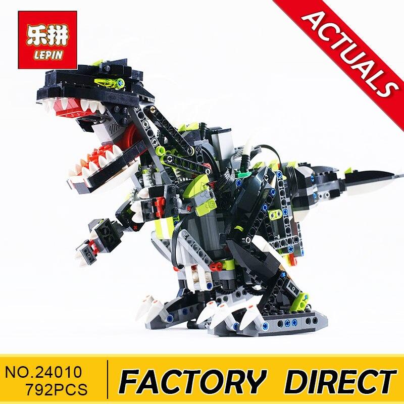 Science et technologie blocs de construction LEPIN 24010 792 pièces Super 3 en 1 dinosaure télécommande fonction sonore jouets pour garçons cadeau