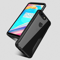 LUOOYD Anti Knock Case For Oneplus 5t Transparent PMMA TPU Silicone For Oneplus Cover Coque For