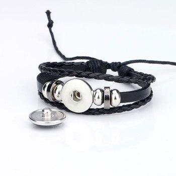 New 12 Constellation Luminous Bracelet Men Leather Bracelet Charm Bracelets 1