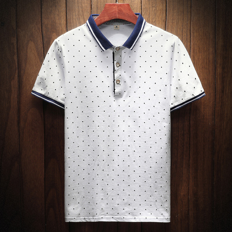2018 New Brand Polos Mens Printed POLO Shirts Cotton Short Sleeve Camisas Polo Casual Stand Collar Male Polo Shirt 2