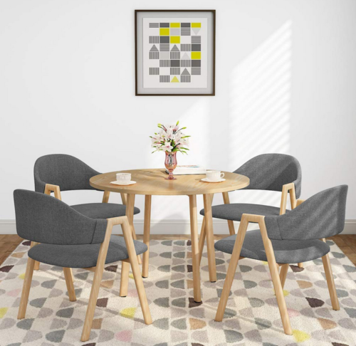 5 Piece Pine Wood Dining Table And Chairs Dining Table Set