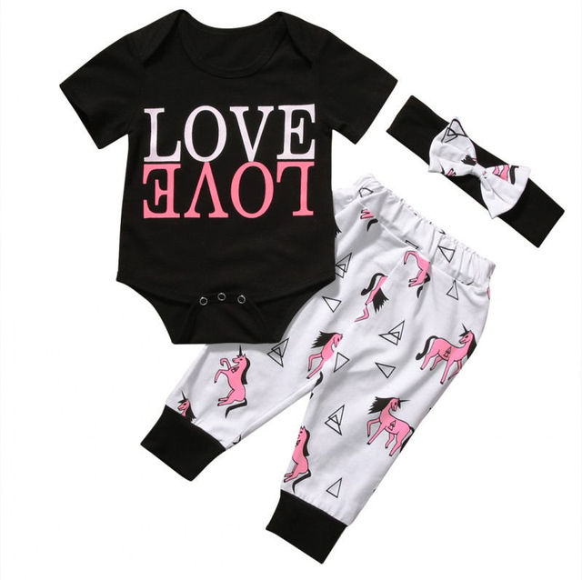 48cd6375a Cute Baby Girl Letter Tops Baby Boy Animal Long Pants Toddler ...