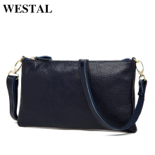 WESTAL Genuine Leather Bag Women Messenger Bags Leather Shoulder Bag Female Crossbody Bags Casual Women Clutches bolsa feminina