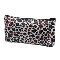 ASDS Women Zippered Leopard Print Cosmetic Holder Bag